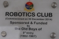 Robotics Club sponsored by 9th Entry